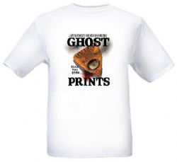 Ghost Prints Official T-shirt -white