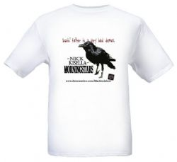 Morningstars Official T-shirt -White w/Bruce the Raven